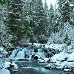 """1st snow on Upper Paradise River"" by JohnChaoPhoto"