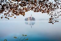 Autumn Mist over Lake Bled