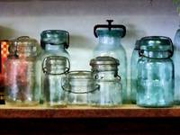 Canning Jars on Shelf