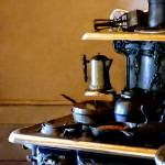"""Coffeepot on Stove"" by susansartgallery"