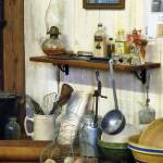 """Kitchen With Wire Basket of Eggs"" by susansartgallery"