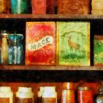 """Spices on Shelf"" by susansartgallery"
