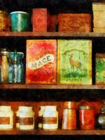 Spices on Shelf