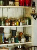 Hurricane Lamp in Pantry
