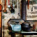 """""""Stove With Tea Kettle"""" by susansartgallery"""