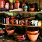 """Bowls and Cups in Pantry"" by susansartgallery"