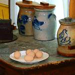 """Brown Eggs and Ginger Jars"" by susansartgallery"