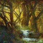 """lothlorien the golden forest"" by rchristophervest"