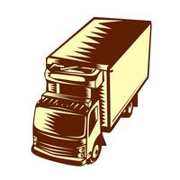 Refrigerated Truck Woodcut