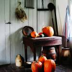 """Pumpkins in Kitchen"" by susansartgallery"