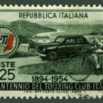 """Cycling And Driving Italian Touring Club Stamp"" by WilshireImages"