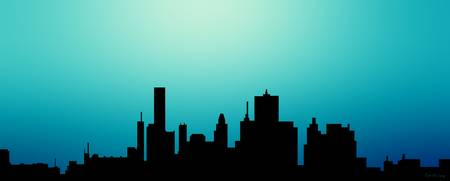 Decorative Abstract Skyline Houston R1115A