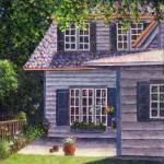 """""""Back Yard With Flower Pots"""" by susansartgallery"""