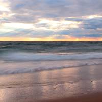 Stormy Sunset Seascape Panorama Art Prints & Posters by Roupen Baker