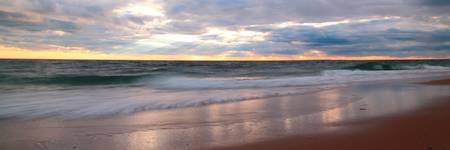 Stormy Sunset Seascape Panorama