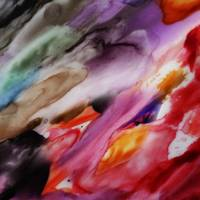 Up Flow Vivid Abstract Watercolor Painting