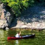 """Canoeing in Paterson NJ"" by susansartgallery"