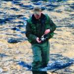 """Man Fishing"" by susansartgallery"