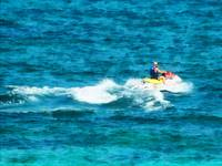 Man Jet Skiing