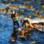 """Two Men Fishing"" by susansartgallery"