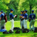 """""""Waiting to Go to Bat"""" by susansartgallery"""