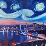 """Starry Night in London - Van Gogh Inspirations wit"" by arthop77"