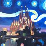 """Starry Night in Barcelona - Van Gogh Inspirations"" by arthop77"