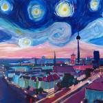 """Starry Night in Berlin - Van Gogh Inspirations"" by arthop77"