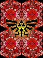 Hylian Royal Crest-Legend Of Zelda-Pattern Red