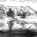 """Red Mountain Reflected in Alpine Tarn in Gary Coop"" by canvass22"