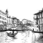 """Rialto Bridge, Grand Canal, Venice, Italy"" by canvass22"