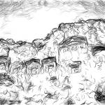 """Rock Tombs, Dalyan, Turkey"" by canvass22"