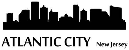 Atlantic City Cityscape Skyline