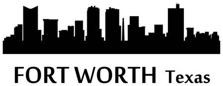 Fort Worth Cityscape Skyline