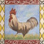 """French Country Whimsical Rooster"" by allisonluci"