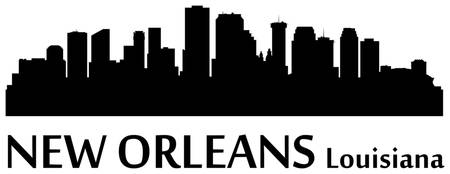 New Orleans Cityscape Skyline