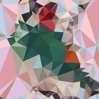 Charm Pink Abstract Low Polygon Background
