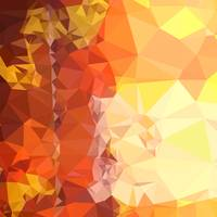 Deep Saffron Orange Abstract Low Polygon Backgroun
