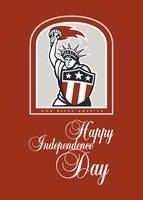Independence Day Greeting Card-Statue of Liberty W