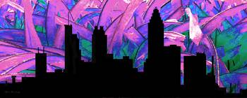 Decorative Skyline Abstract  Atlanta T1115H