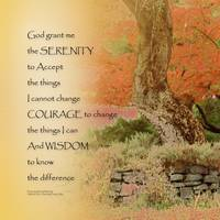 Serenity Prayer Autumn Harmony