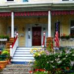 """""""Porch With Front Yard Garden"""" by susansartgallery"""