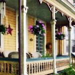 """Porch with Hanging Plants"" by susansartgallery"