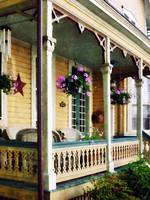 Porch with Hanging Plants