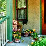 """""""Porch With Padded Chair"""" by susansartgallery"""