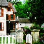 """""""Victorian Home with Open Gate"""" by susansartgallery"""