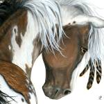 """Tri Colored Paint Horse"" by AmyLynBihrle"