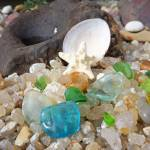 """Seaglass Art prints Shells Sea Glass Starfish"" by BasleeTroutman"