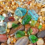 """Seaglass Sea Glass coastal beach art prints Rocks"" by BasleeTroutman"