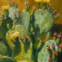 Prickly Pear Cactus_hires Art Prints & Posters by Kevin McCain